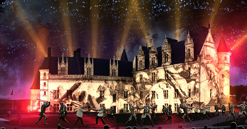 La Prophétie d'Amboise – Sound and light show with actors©